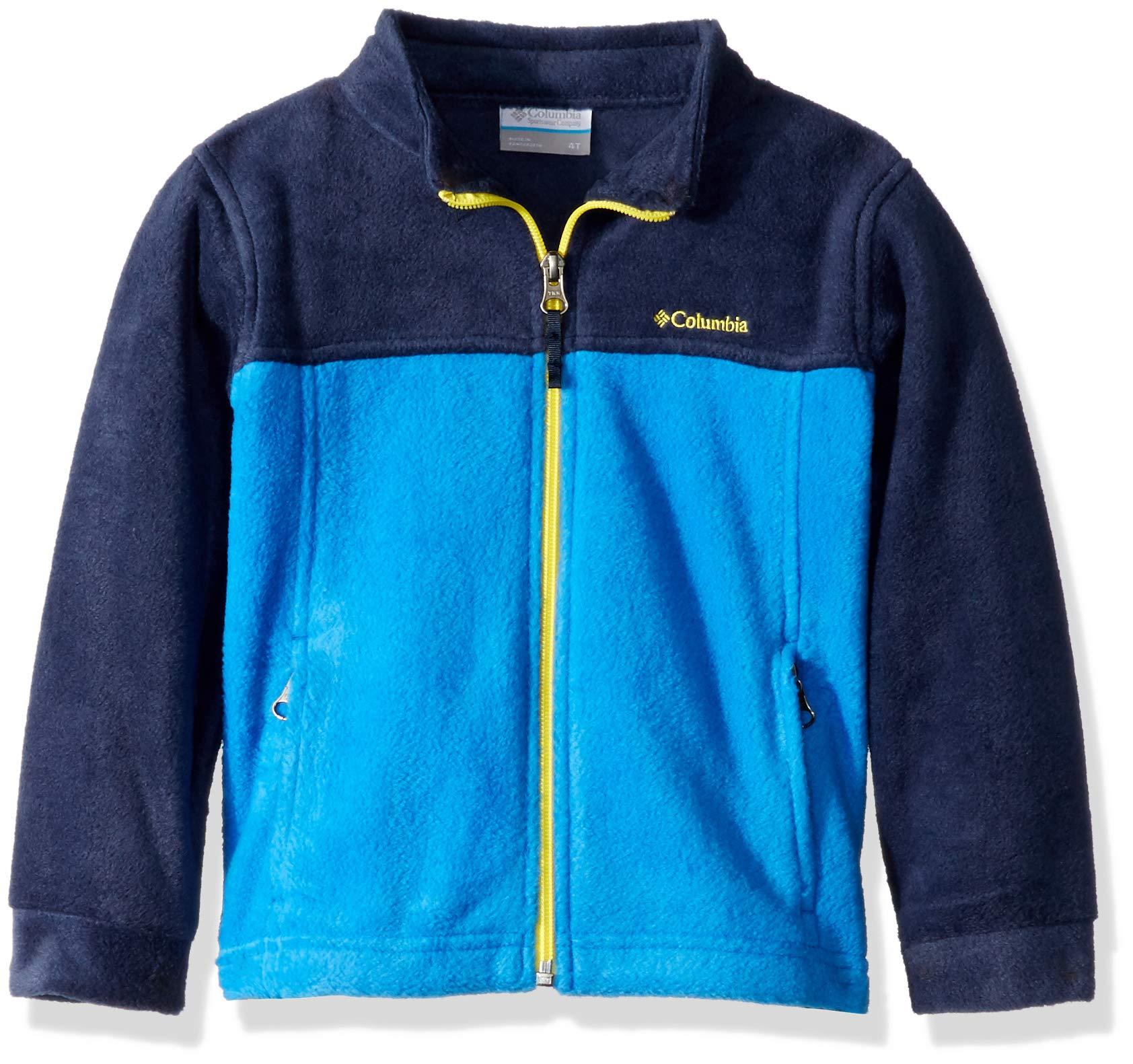 Columbia Boys' Toddler Steens Mt II Fleece, Collegiate Navy/Super Blue, 4T