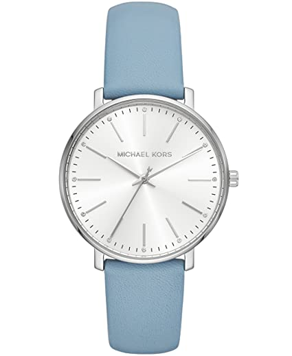 Michael Kors Women s Stainless Steel Quartz Watch with Leather Calfskin  Strap 1a450ad099