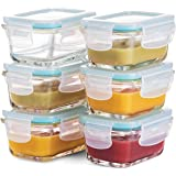 Superior Glass Baby Food Storage Containers - Set of 6-4 Oz Containers with Airtight BPA-Free Locking Lids - Baby Food…