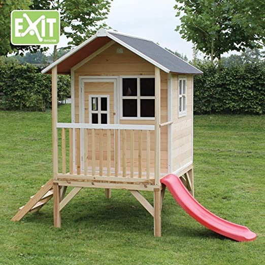 Exit Toys Loft 300 Casa de juguete con tobogán: Amazon.es: Jardín