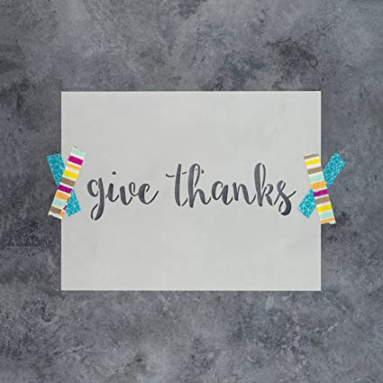 Amazon.com: Give Thanks Stencil Template - Reusable Stencil with ...