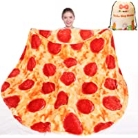 mermaker Pizza Blanket 2.0 Double Sided 47 inches for Adult and Kids, Novelty Realistic Pizza Food Throw Blanket, 285…
