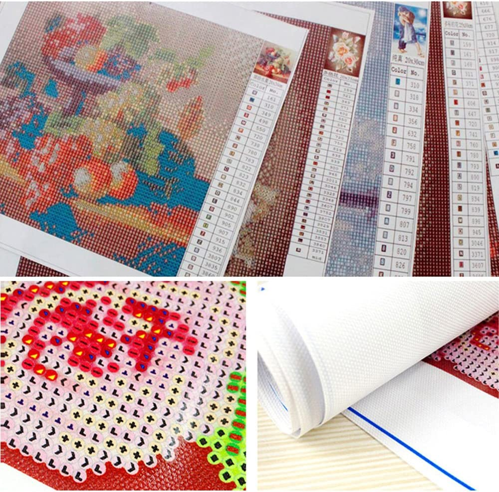 5D Diamond Painting Kit DIY Rhinestone Embroidery Cross Stitch Arts Craft for Home Wall Decor Little Owl 12x12inch
