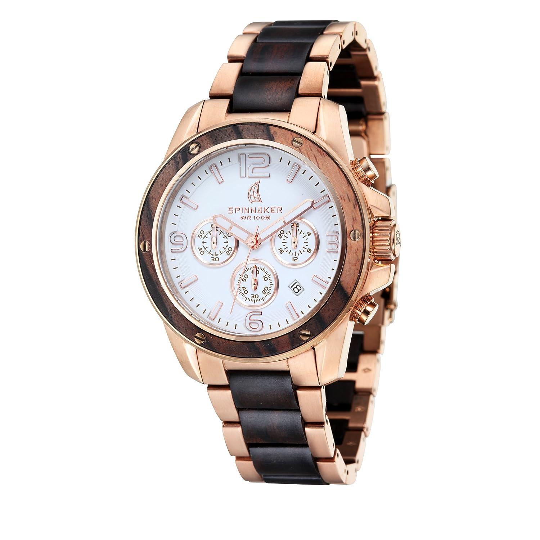 Spinnaker – sp-5027 – 33 – Vessel – Armbanduhr – Quarz Chronograph – Weißes Ziffernblatt – Armband Stahl zweifarbig