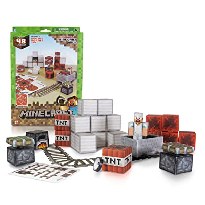Minecraft Papercraft - Minecart Set, Over 48 Piece: Toys & Games