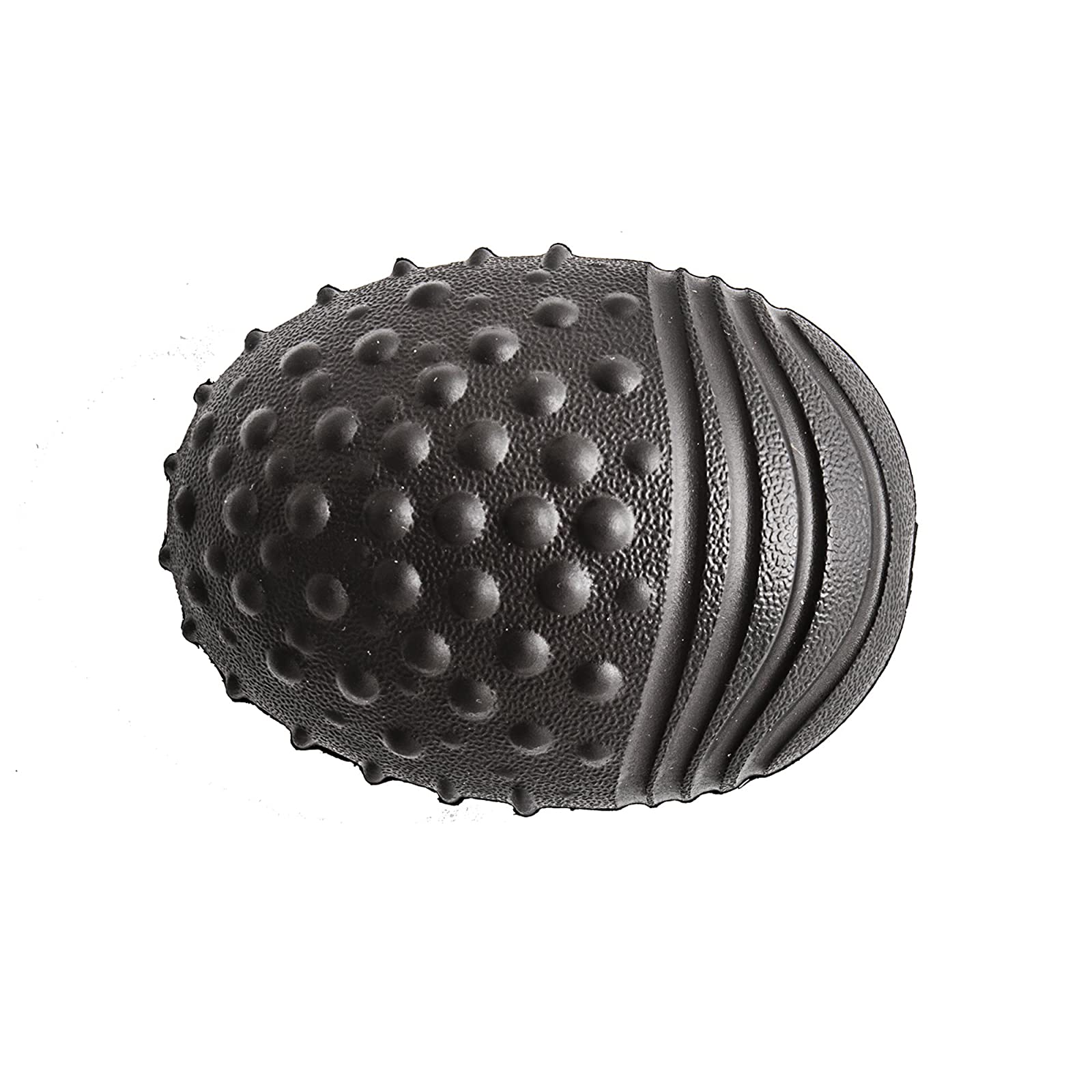 Playology Pebble Chew Dog Toy Bacon Scent black Large - 2
