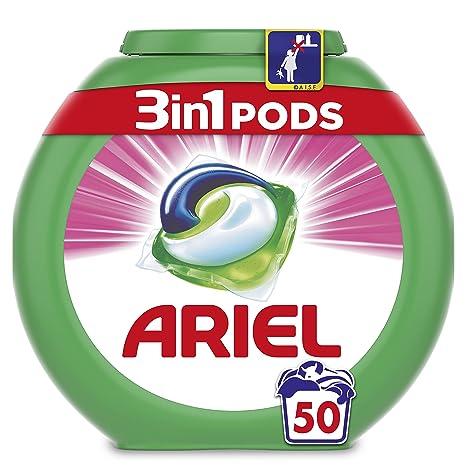 Ariel 3en1 Pods - Detergente En Cápsulas, Sensaciones, Limpieza Increíble, Limpia, Quita