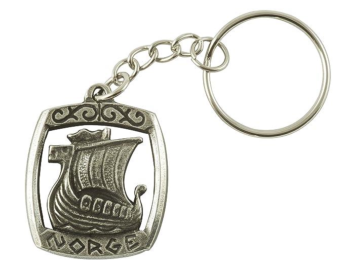 Amazon.com: Viking Long barco llavero – peltre: Office Products