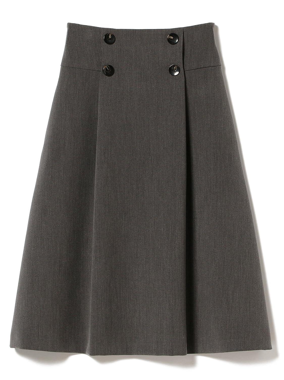 (デミルクスビームス) Demi-Luxe BEAMS スカート フロントボタン Aライン スカート レディース B079F61X3Q 38|CHARCOAL.G CHARCOAL.G 38