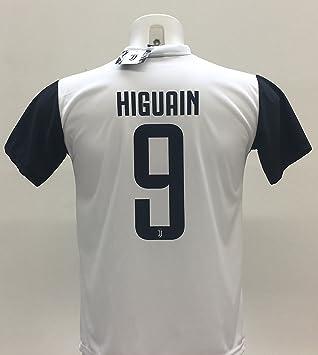 Camiseta de fútbol de Higuaín 9 de la Juventus, réplica autorizada 2017 - 2018,