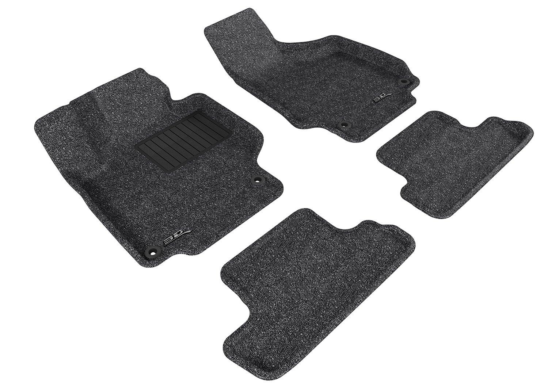3D MAXpider Second Row Custom Fit All-Weather Floor Mat for Select Audi TT//TTS Models Classic Carpet Black