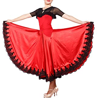 c6b91257f0e8 JS CHOW Black Red Spanish Paso Doble Bullfighting Flamenco Dance Dress  Performance Costume