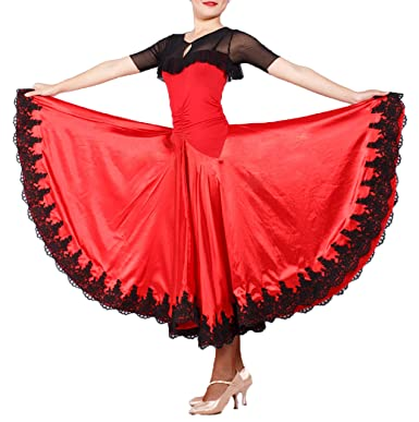 175ddef1db8e JS CHOW Black Red Spanish Paso Doble Bullfighting Dance Performance Costume  (XS)