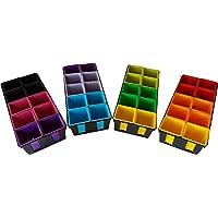 Maceta de plástico de colores (x40) de 8x8x7