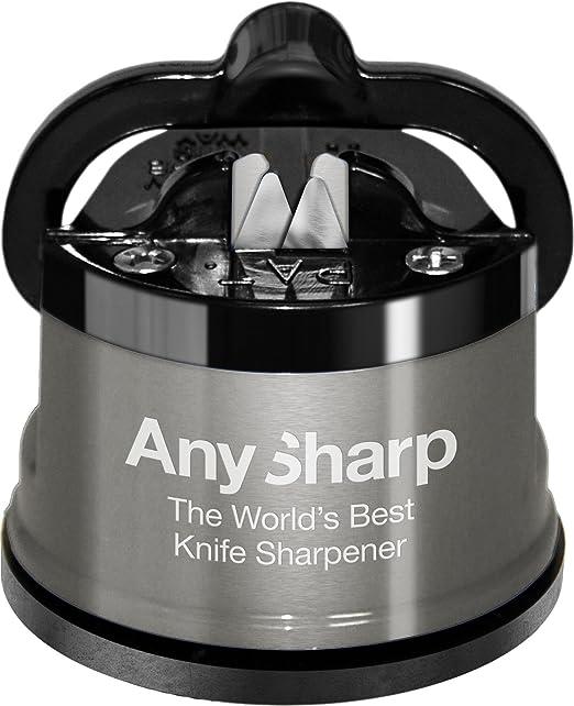 104 opinioni per Anysharp Affilacoltelli Pro Metal con Ventosa, Lega di Acciaio, Metallo