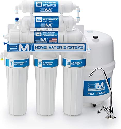 Make Your Own Great Tasting Alkaline Water with Electrolytes Under Sink RO Alkaline Water Filtration System Includes Faucet and Tank