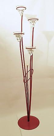 pie velas candelabro cuatro de para Portavelas de de metal I6yfYb7gv