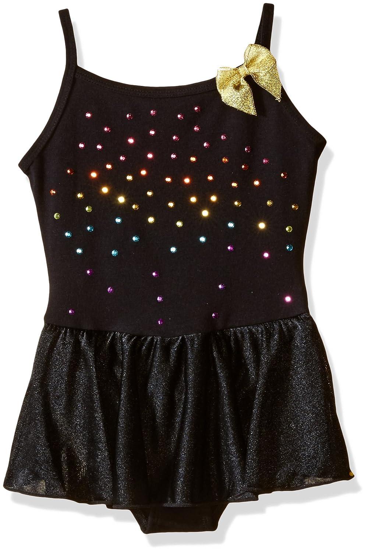 Jacques Moret Girls 'ファッションBasic Cami Skirtall withシルバーRhinestuds B01CJURBIW ブラック L