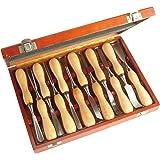 Faithfull WCSET12 Kit outils de sculpture sur bois 12 pièces (Import Grande Bretagne)