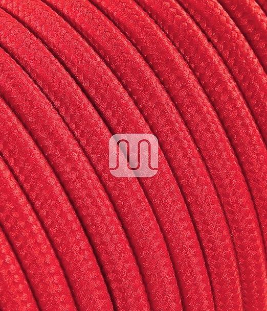 10 opinioni per Cavo elettrico tondo rivestito in tessuto colorato per lampadari, lampade, abat