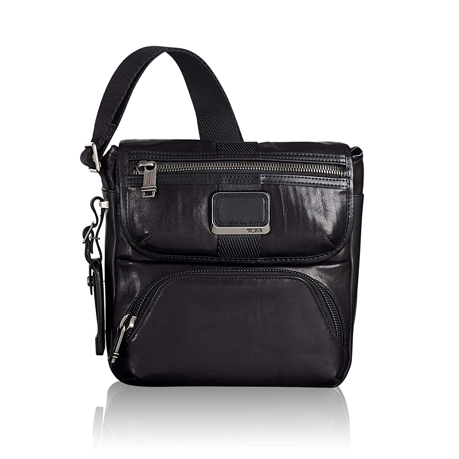 c4037b0feef7 Amazon.com  TUMI - Alpha Bravo Barton Crossbody Bag - Leather Satchel for  Men and Women - Black