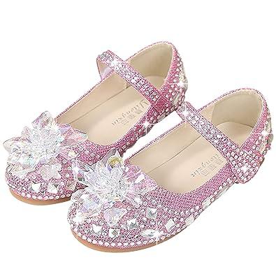 Neiges Qualité Chaussures Eleasica Anna Haute Rose Halloween Reine Des Blanc Violet De Paillettes Déguisement Doux Elsa Fille Princesse LVpGMSUzq