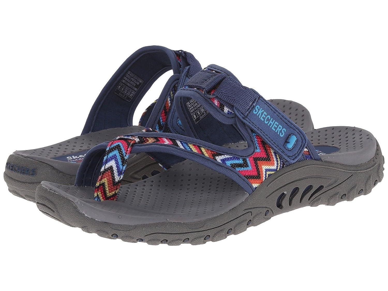 Skechers Women's Reggae-Zig Swag Sandals Flip-Flop B07DZ5DF8M 8.5 B(M) US|Multi Navy