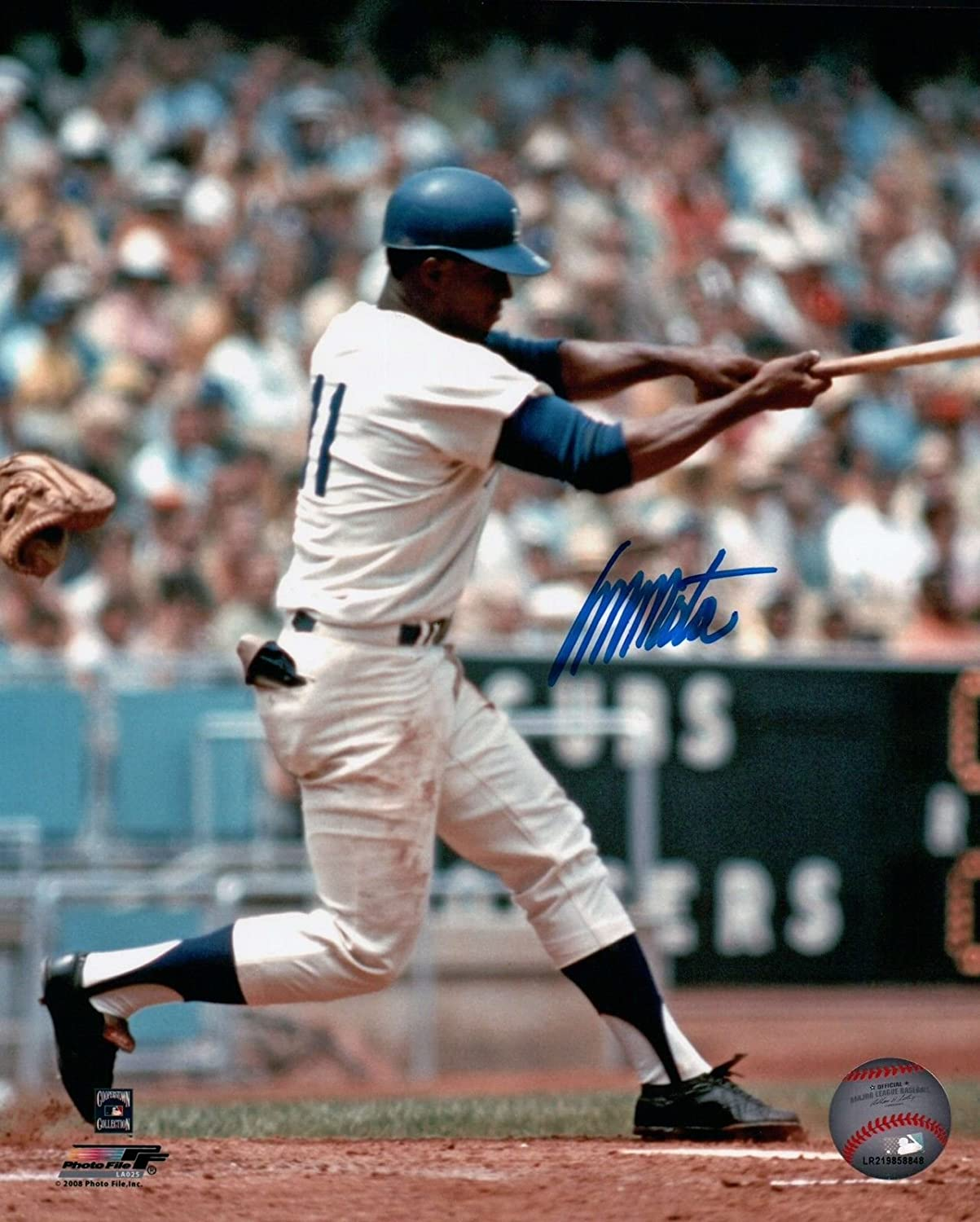 Manny Mota Signed 8X10 Photo Autograph LA Dodgers Home Swing Left Auto COA