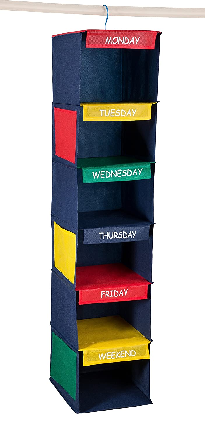 Amazon.com: Daily Activity Kids Closet Organizer U201311u201d X 11u201d X 48u201d  Prepare  And Organize A Weeku0027s Worth Of Your Childrenu0027s Clothing, Shoes And After  School ...