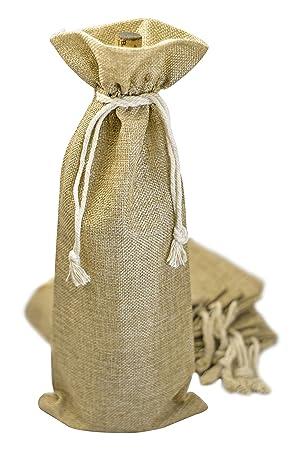 Bolsas de vino Burlap - 12 bolsas de regalo para botellas de ...