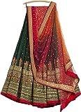 Generic Women's Silk Multi-Coloured Embroidary Lehenga cholis (lehenga_SME-04_FreeSize)