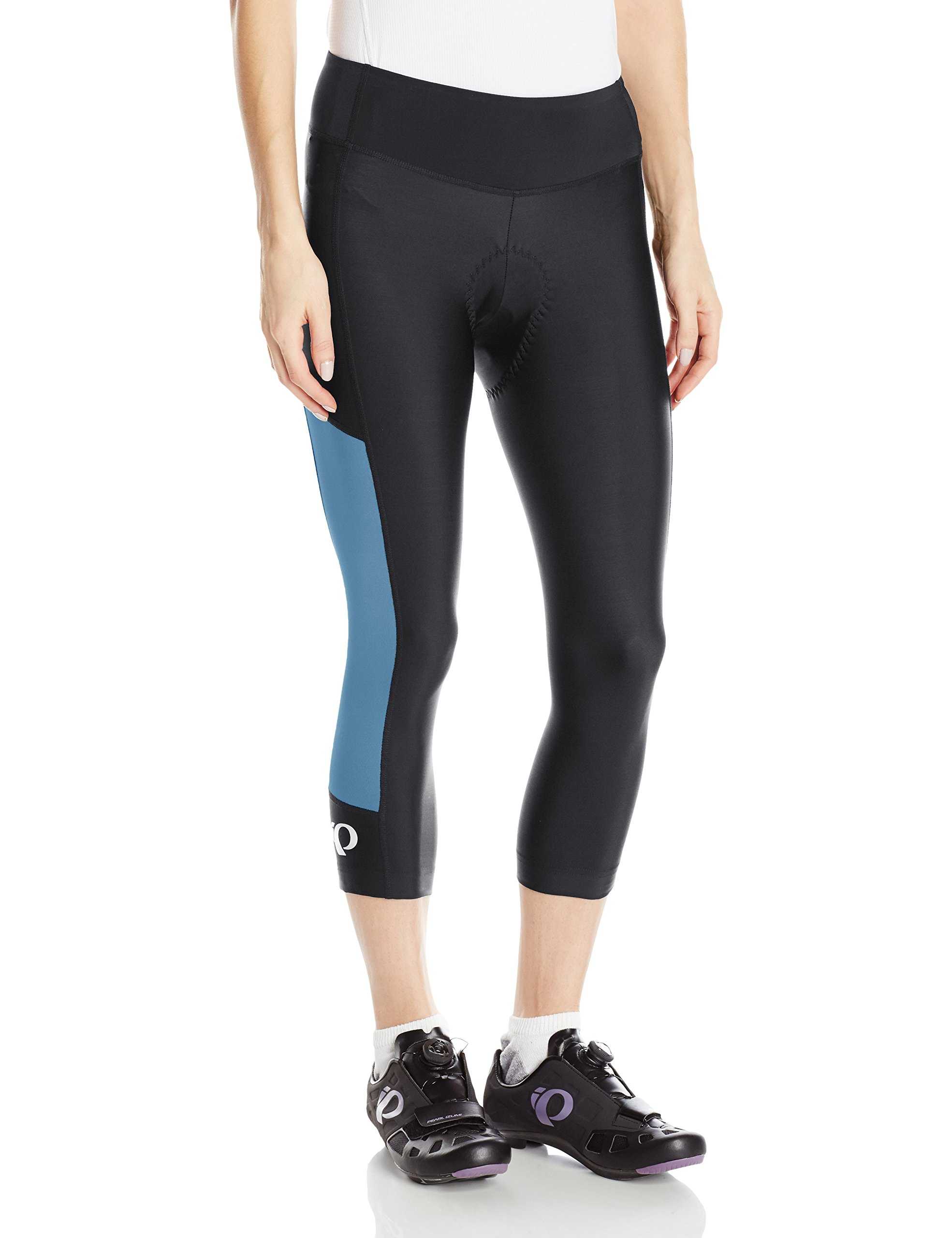 Pearl iZUMi Women's Escape Sugar CYC 3 Quarter Tights, Black/Blue Steel, X-Small