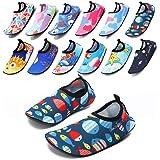[SIXSPACE] マリンシューズ キッズ ウォーターシューズ アクアシューズ ビーチサンダル 子供用 シュノーケリングシューズ 携帯便利 海水浴靴 滑り止め