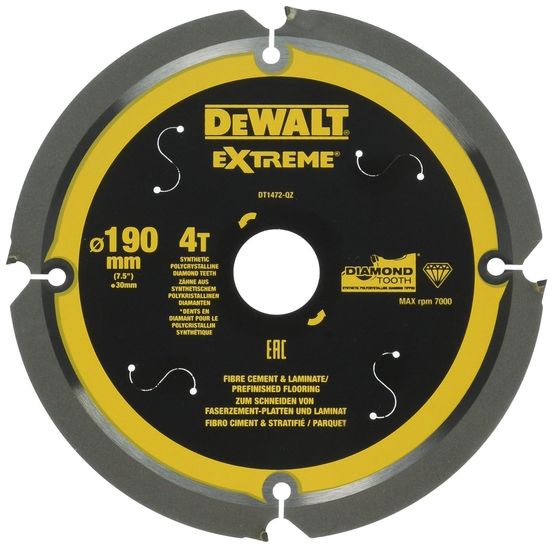 DeWalt Extreme PCD Fibre Cement Saw Blade 165 x 20mm x 4T