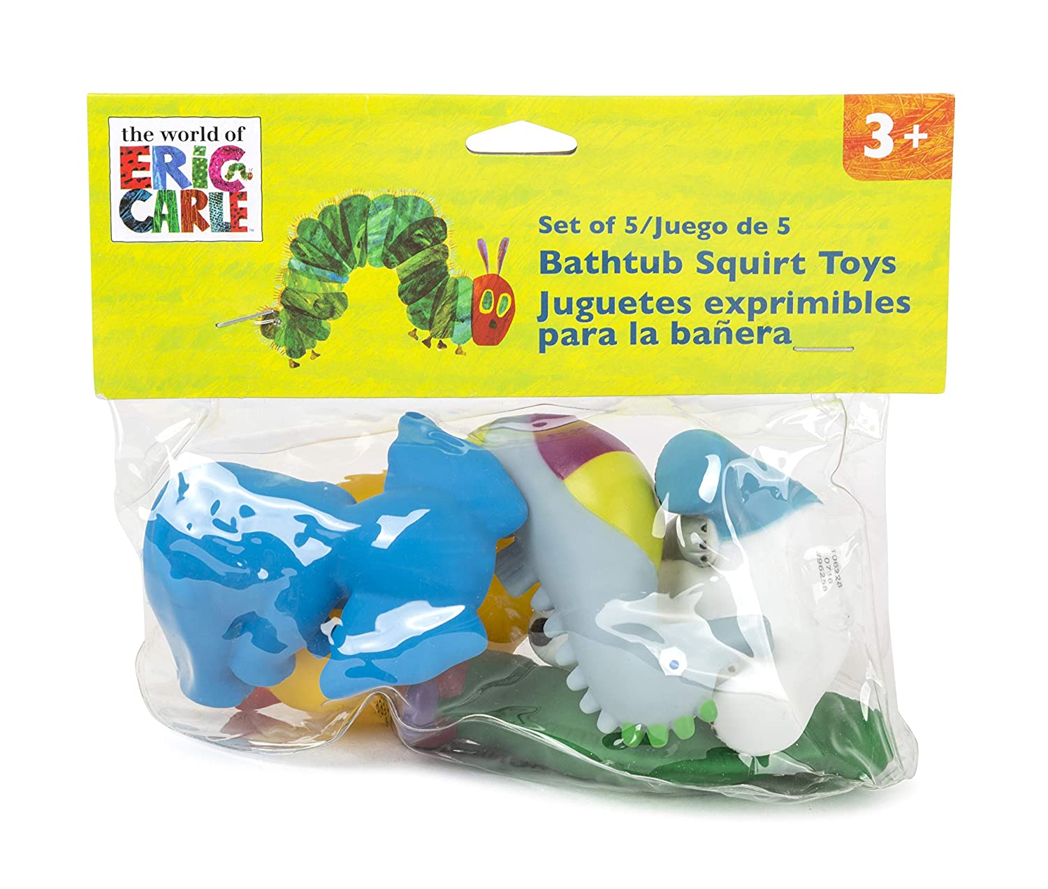 Small Foot 11169 Very Hungry Caterpillar Bath Toy Set Soft Rubber Multi-Coloured
