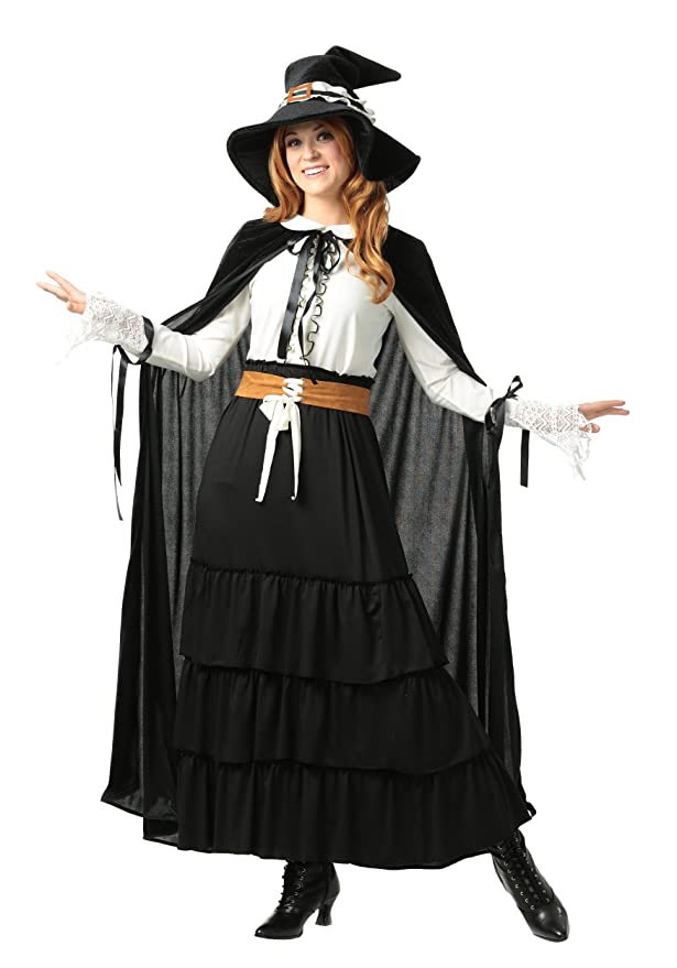 Victorian Costumes: Dresses, Saloon Girls, Southern Belle, Witch Womens Salem Witch Plus Size Costume $59.99 AT vintagedancer.com