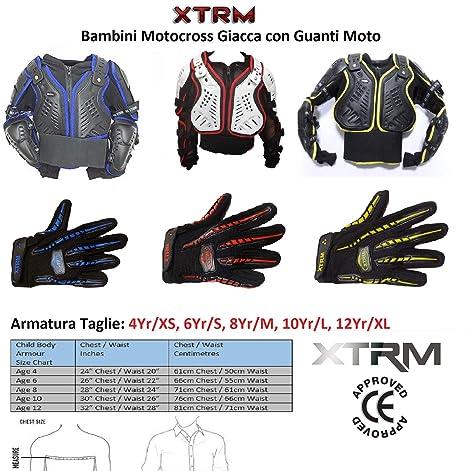 Bambini Giacca Moto Protezione di Motocross XTRM Pettorina Protettiva  Armatura Moto Quad ATV Dirt Bike Scooter 8ebc7b2de754