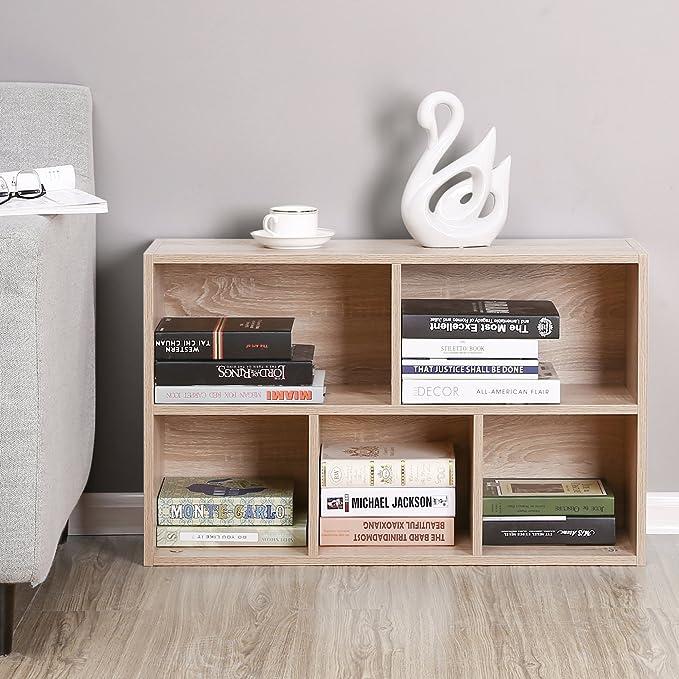 VASAGLE Estantería para Libros con 5 Compartimientos, Color Roble LBC25NL