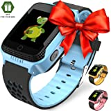 Smart Watch for Kids - Smart Watches for Boys Smartwatch GPS Tracker Watch Wrist Android Mobile Camera Cell Phone Best Gift for Girls Children boy Pink Blue Yellow (Blue) (Blue)