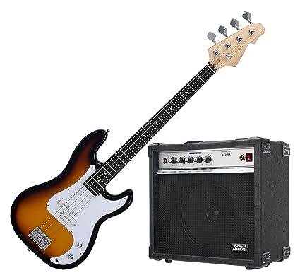 Rocktile Bajo eléctrico Punsher Bass sunburst (incluye amplificador)