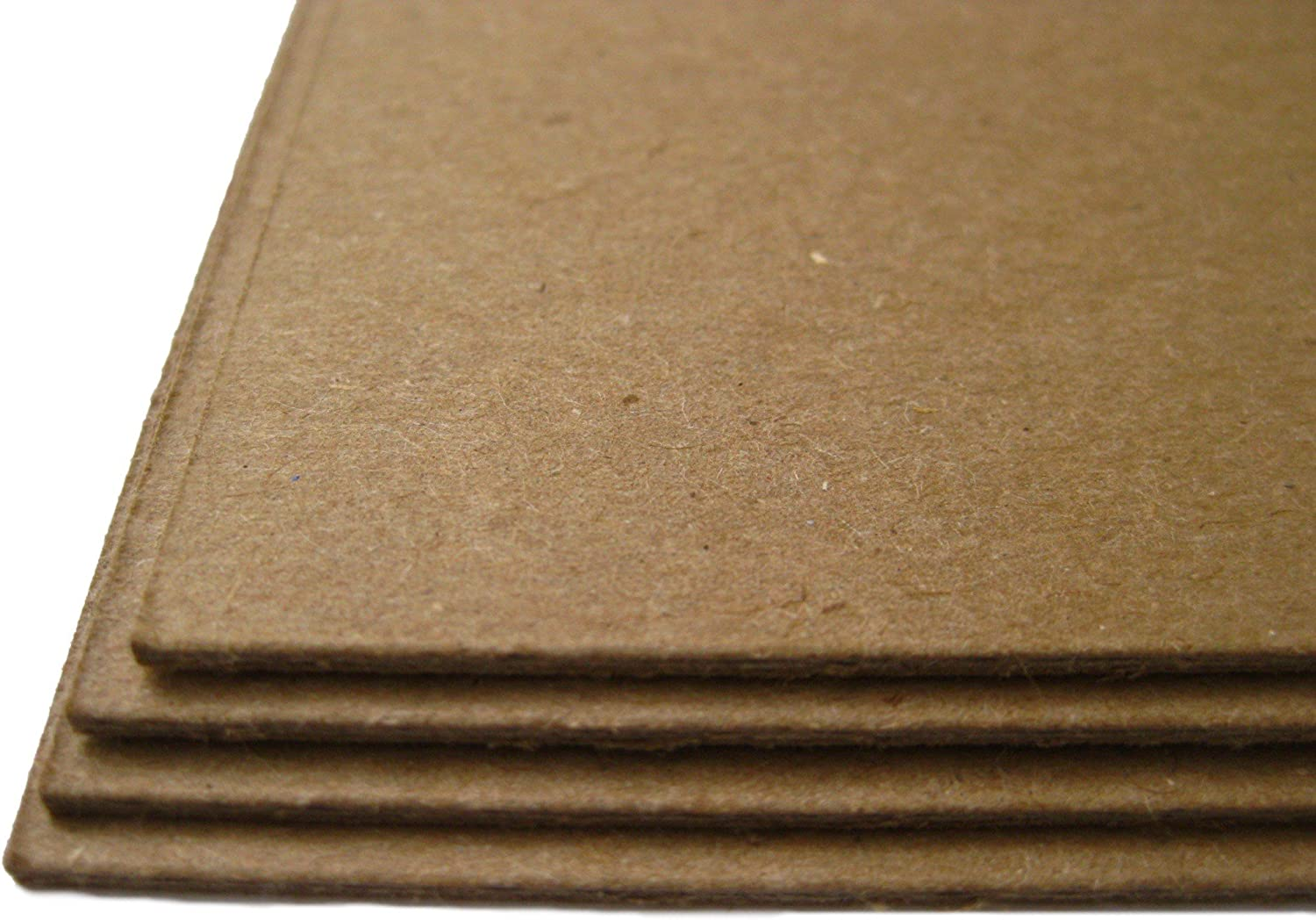 10 Sheets Brown Chipboard 80 Point Extra Thick 8 X 8 Inches Album|Scrapbook Size .080 Caliper XX Heavy Cardboard as Thick as 20 Sheets 20# Paper