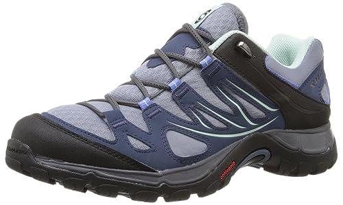 SalomonEllipse Aero - Zapatillas de Trekking y Senderismo de Media caña Mujer, Color Azul, Talla 42: Amazon.es: Zapatos y complementos