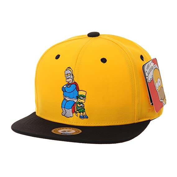 WITHMOONS The Simpsons Baseball Cap Superman Snapback Hat HL2657 (Yellow) fee7ca4338bf