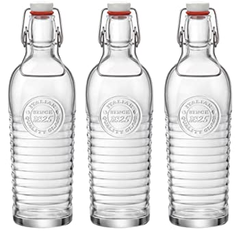 Bormioli Rocco Officina 1825 Vintage Botella de vidrio con tapa abatible - 1200ml - transparente -