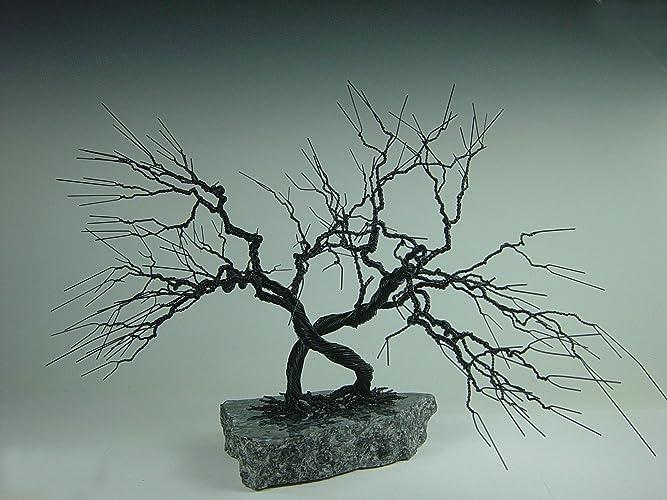 Amazon.com: Intertwined Wire Bonsai Tree Sculpture: Handmade