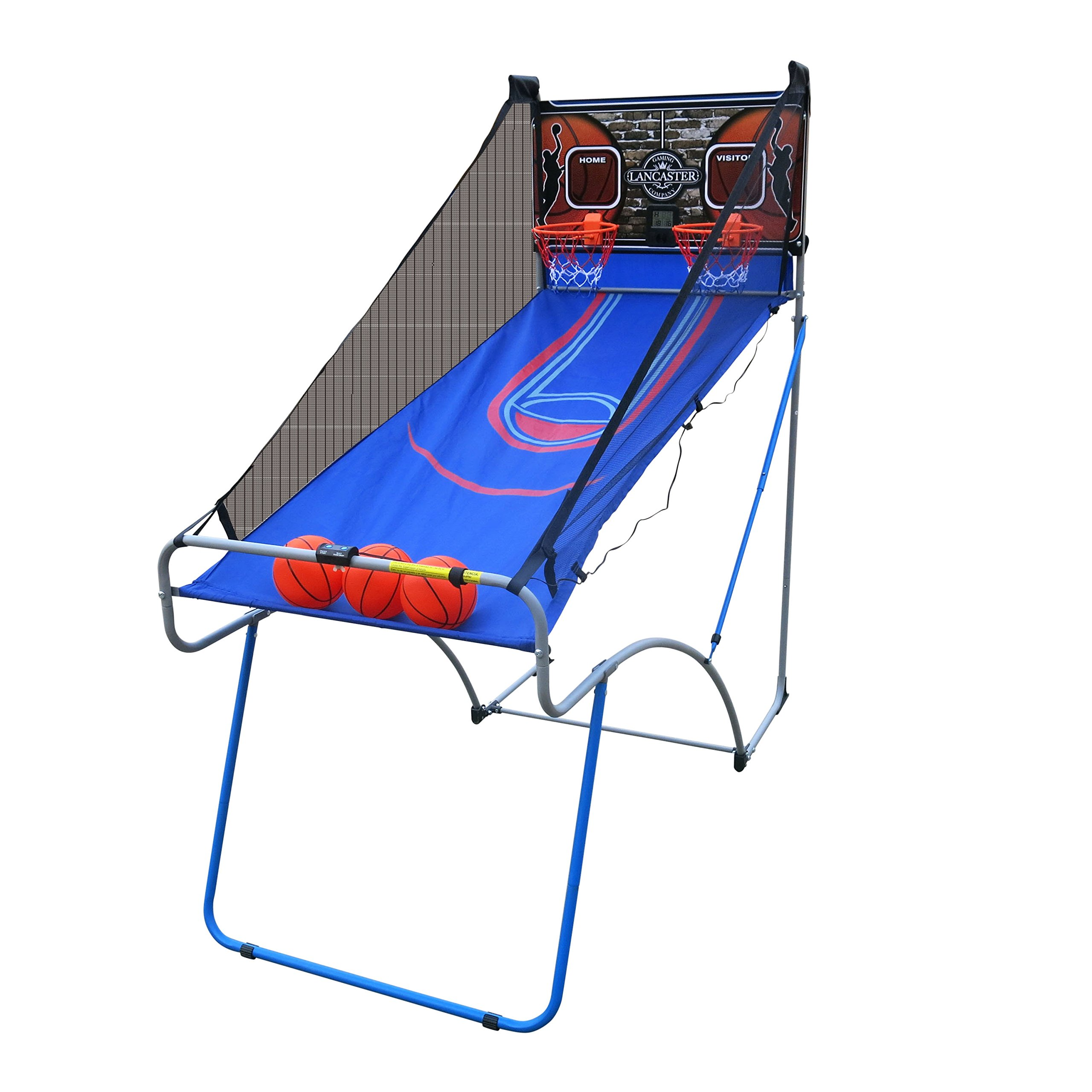 Lancaster Sports EZ-Fold 2 Player Indoor Traditional Arcade Basketball Game