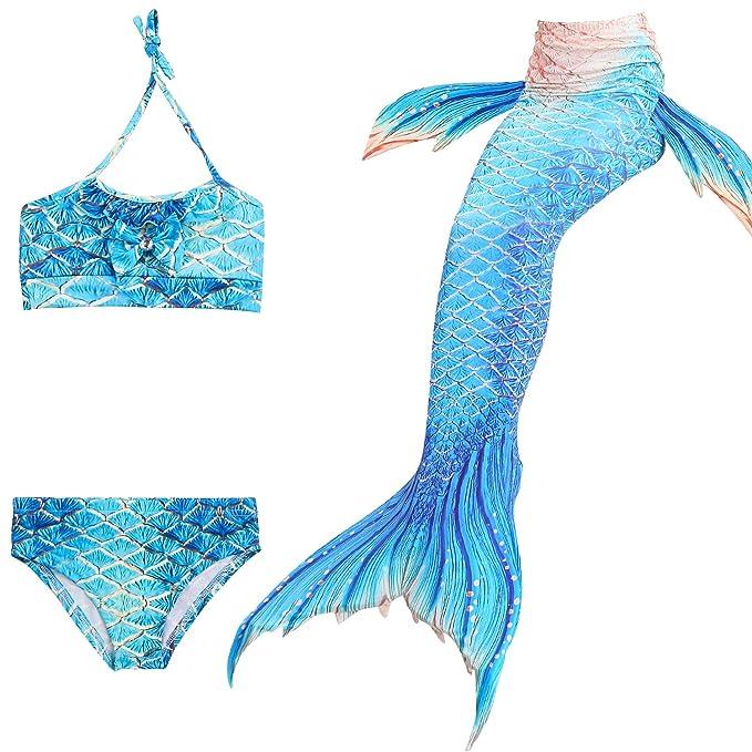 comprar online f82ef d3b4d WhiFan Las Muchachas Cosplay Traje de baño Sirena Chica ...