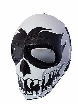 Airsoft full face máscara feliz perro ejército de dos protección de la seguridad Paintball Cosplay Halloween