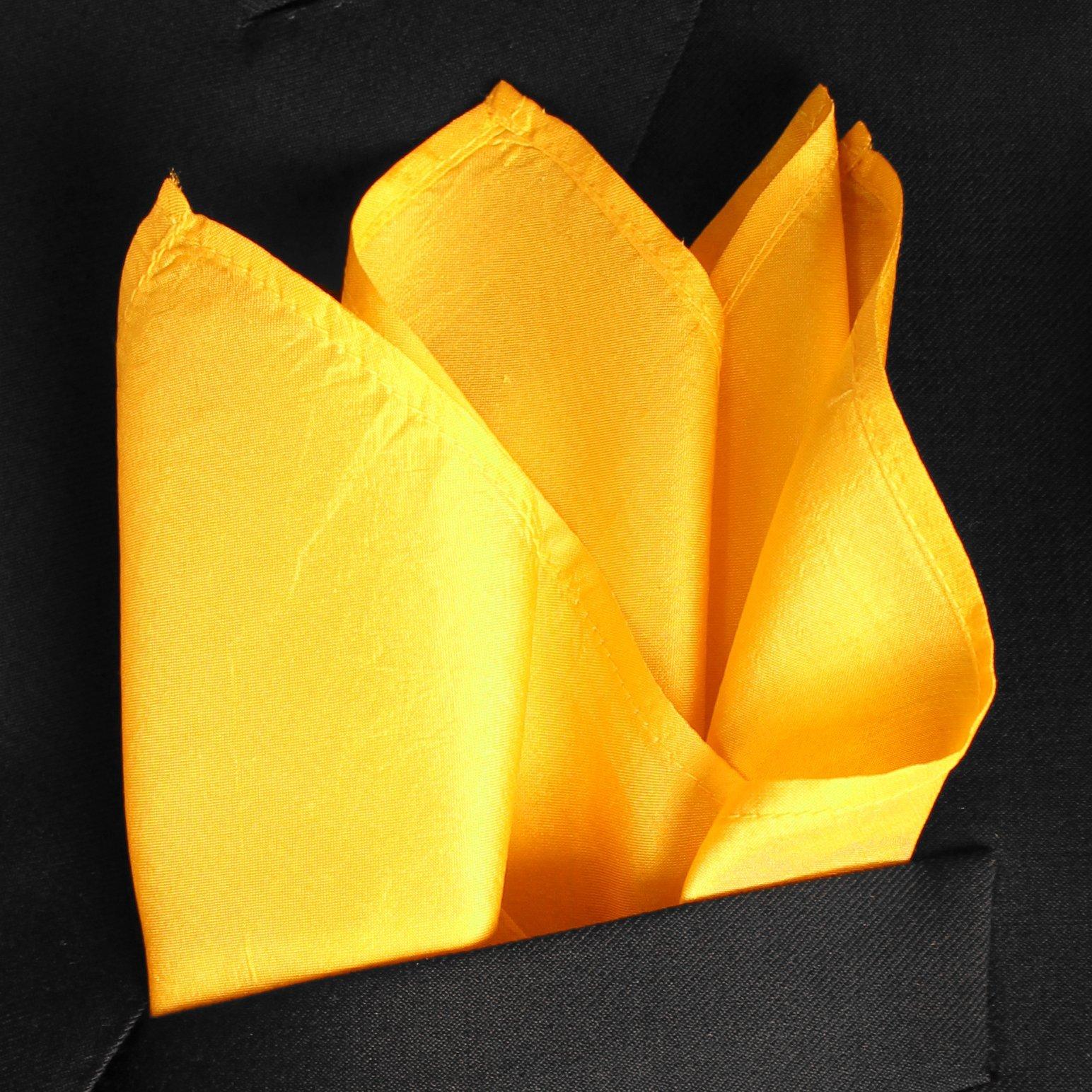 Fine Mango Silk Pocket Square - Full-Sized 16''x16'' by Royal Silk (Image #2)