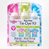 Tulip 31678 ONE Step TIE-DYE KIT 3 Colour Bright Tie Dye Kit, Bright, 28 Pieces
